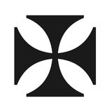 Διαγώνιο σύμβολο σιδήρου Στοκ φωτογραφία με δικαίωμα ελεύθερης χρήσης