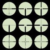 Διαγώνιο σύνολο τριχώματος και στόχων. Στοκ Φωτογραφίες