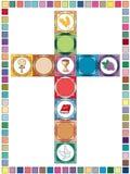 Διαγώνιο υπόβαθρο θρησκείας Στοκ φωτογραφία με δικαίωμα ελεύθερης χρήσης