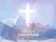 Διαγώνιο, φωτεινό υπόβαθρο Χριστουγέννων Χριστουγέννων με το χαιρετισμό Χριστουγέννων Στοκ φωτογραφίες με δικαίωμα ελεύθερης χρήσης