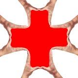 διαγώνιο χέρι - γίνοντα σημάδ Στοκ φωτογραφία με δικαίωμα ελεύθερης χρήσης
