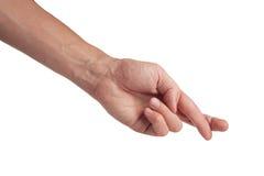 διαγώνιο χέρι χειρονομία&sigm Στοκ Φωτογραφίες