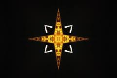 διαγώνιο χρυσό αστέρι τριχώματος Ελεύθερη απεικόνιση δικαιώματος