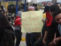 Διαδήλωση διαμαρτυρίας ενάντια στην επανεκλογή του Juan Ορλάντο Hernandez Ονδούρα στις 21 Ιανουαρίου 2018 7 Στοκ φωτογραφία με δικαίωμα ελεύθερης χρήσης