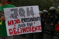 Διαδήλωση διαμαρτυρίας ενάντια στην επανεκλογή του Juan Ορλάντο Hernandez Ονδούρα στις 21 Ιανουαρίου 2018 20 Στοκ Φωτογραφίες
