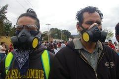 Διαδήλωση διαμαρτυρίας ενάντια στην επανεκλογή του Juan Ορλάντο Hernandez Ονδούρα στις 21 Ιανουαρίου 2018 21 στοκ φωτογραφία με δικαίωμα ελεύθερης χρήσης