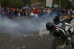 Διαδήλωση διαμαρτυρίας ενάντια στην επανεκλογή του Juan Ορλάντο Hernandez Ονδούρα στις 21 Ιανουαρίου 2018 2 στοκ εικόνα