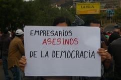 Διαδήλωση διαμαρτυρίας ενάντια στην επανεκλογή του Juan Ορλάντο Hernandez Ονδούρα στις 21 Ιανουαρίου 2018 3 στοκ εικόνες