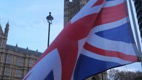Διαδήλωση διαμαρτυρίας και επίδειξη Brexit στο Λονδίνο απόθεμα βίντεο