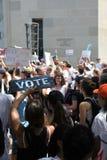 Διαδήλωση διαμαρτυρίας στο συνεχές ρεύμα στοκ εικόνες