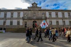 Διαδήλωση διαμαρτυρίας - Vigo, Ισπανία Στοκ Φωτογραφία