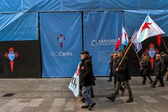 Διαδήλωση διαμαρτυρίας - Vigo, Ισπανία Στοκ εικόνα με δικαίωμα ελεύθερης χρήσης