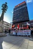 Διαδήλωση διαμαρτυρίας - Vigo, Ισπανία Στοκ φωτογραφία με δικαίωμα ελεύθερης χρήσης