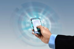Διαδίκτυο στην έννοια Smartphone Στοκ εικόνες με δικαίωμα ελεύθερης χρήσης