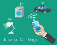 Διαδίκτυο των πραγμάτων Έλεγχος όλα από το smartphone σας όλα στοκ εικόνες