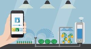 Διαδίκτυο των πραγμάτων στη γεωργία και την έξυπνη καλλιέργεια ελεύθερη απεικόνιση δικαιώματος