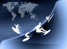 Διαδίκτυο surfer ελεύθερη απεικόνιση δικαιώματος