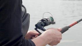 Διαδικασία αλιείας απόθεμα βίντεο
