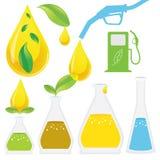 Διαδικασία παραγωγής biodiesel διανυσματική απεικόνιση