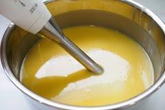 Διαδικασία του σπιτικού σαπουνιού στοκ εικόνα με δικαίωμα ελεύθερης χρήσης