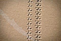 διαδρομές άμμου ποδηλάτω& Στοκ Εικόνα