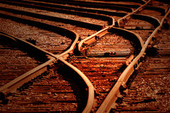 διαδρομές ηλιοβασιλέματος σιδηροδρόμου Στοκ εικόνα με δικαίωμα ελεύθερης χρήσης