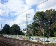 Διαδρομές και πλατφόρμα του σιδηροδρομικού σταθμού της Βρέμης, Βρέμη, Γερμανία Στοκ Φωτογραφίες