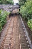 Διαδρομές με τη γέφυρα αψίδων τούβλου Στοκ Φωτογραφίες