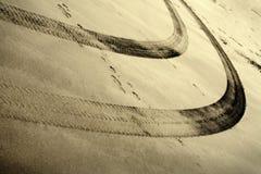 διαδρομές ροδών άμμου Στοκ εικόνες με δικαίωμα ελεύθερης χρήσης