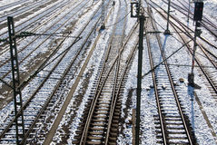 διαδρομές σιδηροδρόμων στοκ φωτογραφία με δικαίωμα ελεύθερης χρήσης