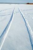 διαδρομές χιονιού Στοκ φωτογραφία με δικαίωμα ελεύθερης χρήσης