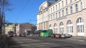 Διαδρομή αριθμός 6 στη λεωφόρο Kronverksky, ημέρα τραμ άνοιξη Πετρούπολη Άγιος φιλμ μικρού μήκους