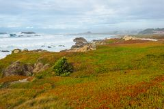 Διαδρομή 1 Καλιφόρνιας κράτη που ενώνονται Στοκ εικόνες με δικαίωμα ελεύθερης χρήσης