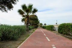 Διαδρομή ποδηλάτων στην πλευρά στοκ φωτογραφία με δικαίωμα ελεύθερης χρήσης