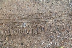 Διαδρομή ροδών στη σύσταση άμμου Στοκ εικόνες με δικαίωμα ελεύθερης χρήσης