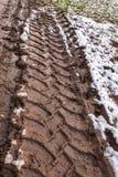 Διαδρομή ροδών στο λασπώδες έδαφος Στοκ Εικόνα