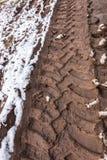 Διαδρομή ροδών στο λασπώδες έδαφος Στοκ φωτογραφία με δικαίωμα ελεύθερης χρήσης