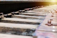 Διαδρομή σιδηροδρόμου, άποψη DOF στοκ φωτογραφία με δικαίωμα ελεύθερης χρήσης