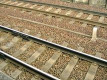 διαδρομή σιδηροδρόμων λεπτομέρειας Στοκ Εικόνα