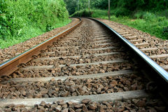 διαδρομή σιδηροδρόμων Στοκ εικόνες με δικαίωμα ελεύθερης χρήσης