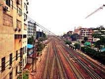 Διαδρομή σιδηροδρόμων στοκ φωτογραφίες με δικαίωμα ελεύθερης χρήσης