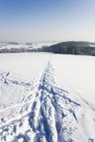 διαδρομή σκι λεπτομέρει&a Στοκ Εικόνες