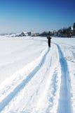 διαδρομή σκι Στοκ Εικόνα