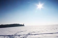 διαδρομή σκι Στοκ Φωτογραφίες