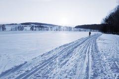 διαδρομή σκι Στοκ φωτογραφία με δικαίωμα ελεύθερης χρήσης