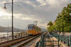 Διαδρομή τροχιοδρομικών γραμμών Hunker στη Βουδαπέστη Στοκ φωτογραφία με δικαίωμα ελεύθερης χρήσης