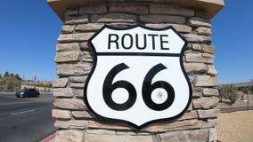 Διαδρομή 66 Barstow σημάδι απόθεμα βίντεο