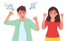 Διαζύγιο, αποσύνθεση, ψυχολογικό δράμα στην οικογένεια απεικόνιση αποθεμάτων