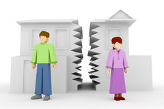 διαζύγιο διανυσματική απεικόνιση
