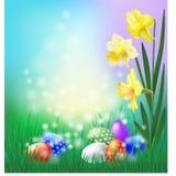 διαθέσιμος χαιρετισμός αρχείων Πάσχας eps καρτών ελεύθερη απεικόνιση δικαιώματος